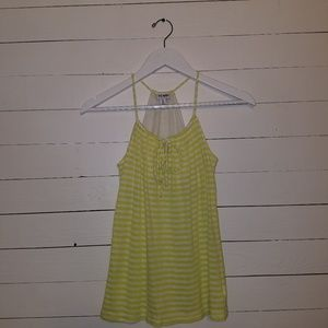 Lime green and white tank by Old Navy